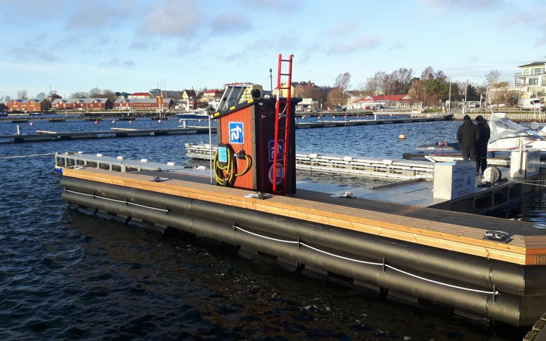 New pump-out station will reduce the inflow of septic waste in the Baltic Sea